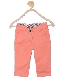 612 League Cotton Solid Color Capri Pant - Peach