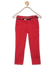 612 League Full Length Solid Color Pant - Red