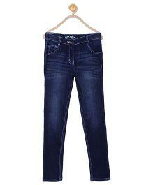 612 League Full Length Whisker Style Jeans - Dark Blue