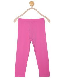 612 League Full Length Solid Colour Leggings - Pink