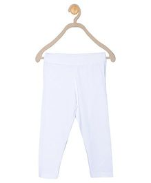612 League Full Length Solid Colour Leggings - White