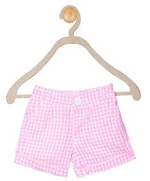 612 League Checks Shorts - Pink