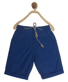 612 League Poplin Solid Color Shorts With Drawstring - Dark Blue