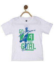 612 League Half Sleeves T-Shirt Printed - White
