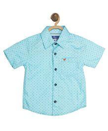 612 League Half Sleeves Shirt Printed - Blue