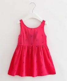 Superfie Printed Summer Dress - Hotpink