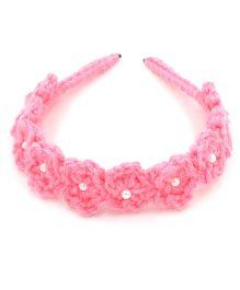 Magic Needles Magic Needles Handmade Flower Hairband - Pink