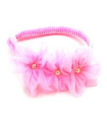 Magic Needles Handmade Flowers Design Hairband - Baby Pink
