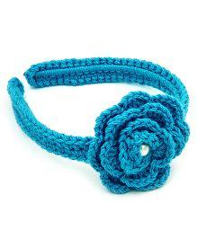 Magic Needles Magic Needles Crochet Rose Hairband - Light Blue