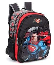 DC Comics Superman Backpack Black - 16 Inches