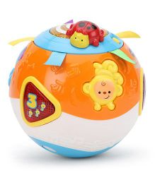 Vtech Crawl And Learn Bright Lights Ball - Orange And Blue