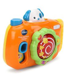 Vtech Pop Up Puppy Camera - Orange And Yellow