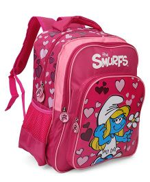 Smurfs Heart Backpack Pink - 16 Inches