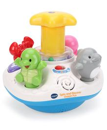 Vtech Press And Spin Top Learning Toy - White And Yellow