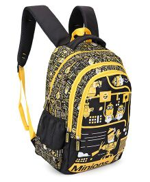 Minions Backpack Black And Yellow - 17 Inches
