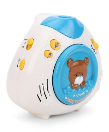 VTech Lullaby Teddy Bear Crib Projector - White And Blue