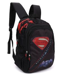DC Comics Batman Vs Superman Backpack Black - 17 Inches