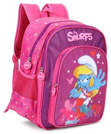 Smurfs Backpack Pink - 13 Inches