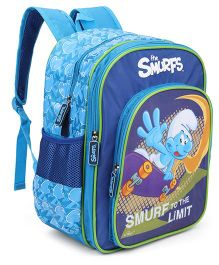 Smurfs To The Limit Backpack Blue - 18 Inches