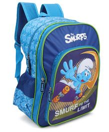 Smurfs To The Limit Backpack Blue - 16 Inches