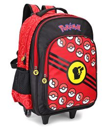 Pokemon Trolley Bag Red And Black - 20 Inches