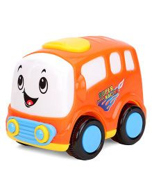 Free Wheel Toy Bus - Orange White