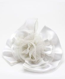 Eternz Big Flower Style Hair band - White