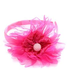 Eternz Big Flower Hair band - Pink