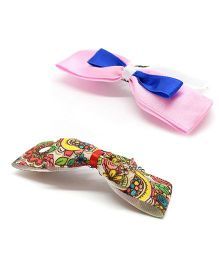 Eternz Set Of Two Bow Comb Pin - Multicolour