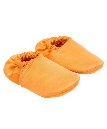 Eternz Handcrafted Elasticated Boots - Orange