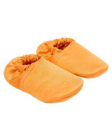 Eternz Handcrafted Elasticated Boots - Orange