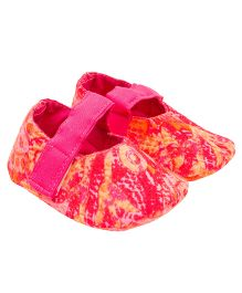 Eternz Handcrafted Printed Boots - Pink