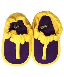Eternz Handcrafted Flip-Flop - Yellow & Purple