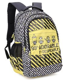 Minions Backpack Yellow And Black - 19 Inches