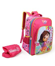 Dora Backpack Pink - 17 Inches