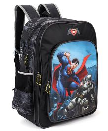 DC Comics Batsup Battle Backpack Black - 18 Inches