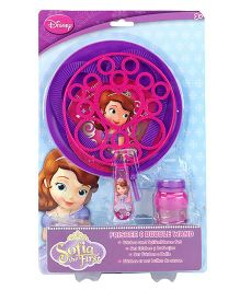 Disney Sofia The First Frisbee And Bubble Wand - Pink