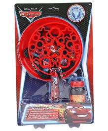 Disney Cars Frisbee And Giant Bubble Wand - Red