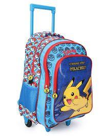 Pokemon Pikachu Trolley Bag Blue - 20 Inches