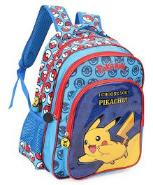 Pokemon I Choose You Pikachu Backpack Blue - 13 Inches