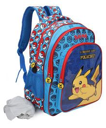 Pokemon I Choose You Pikachu Backpack Blue