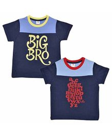Luke and Lilly Boys Half Sleeves Cotton T-Shirt Pack Of 2 - Multicolor