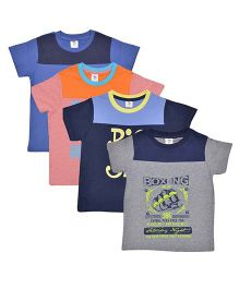 Luke and Lilly T-Shirt Pack Of 4 - Multicolor