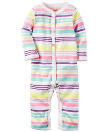 Carter's Cotton Snap-Up Sleep & Play - Multicolour