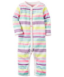 Carter's Cotton Snap-Up Sleep & Play - Multicolour