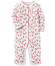 Carter's Cotton Snap-Up Sleep & Play - White
