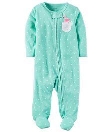 Carter's Neon Zip-Up Sleep & Play - Turquoise