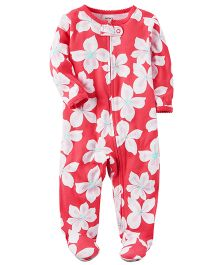 Carter's Cotton Zip-Up Sleep & Play - Pink White