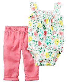 Carter's 2-Piece Bodysuit & Pant Set - White Pink