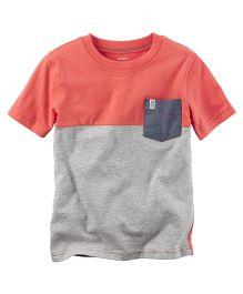 Carter's Colorblock Pocket Tee - Orange Grey